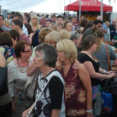Busy food marquee