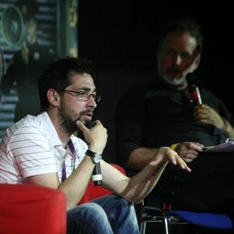 man presenting