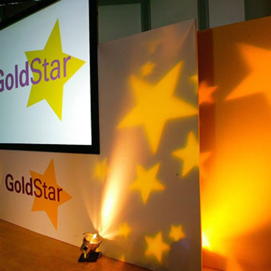 Gold Star Event Back Drop
