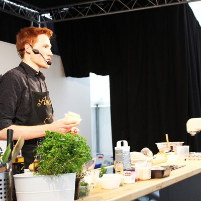 Andrew Smyth in the Cookery Theatre