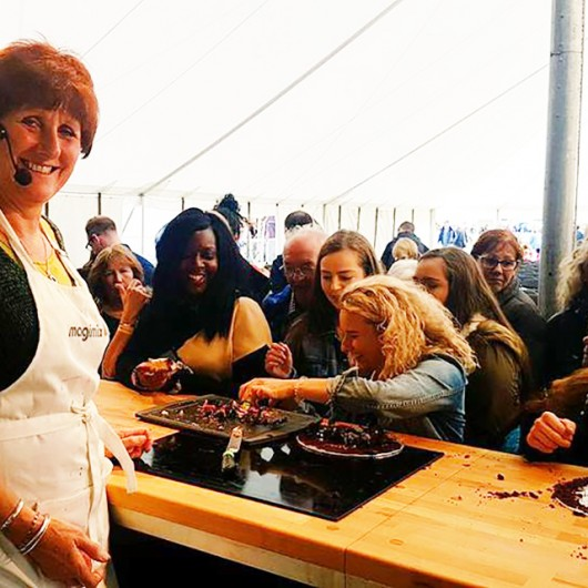 Jane Beedle in the Cookery Theatre