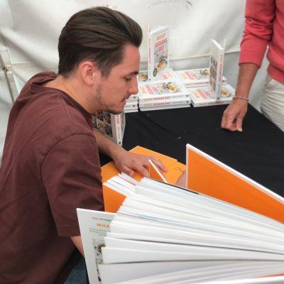 Brett book signing